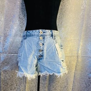 NWT Rue 21 Blue Jean High Rise Shorties Size 12